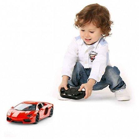 Masina RC Rastar - Lamborghini Aventador, rosu, 1:24
