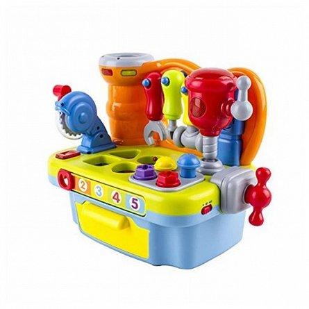 Jucarie interactiva Hola Toys - Micul meu atelier cu unelete si sunete