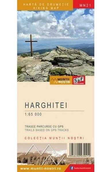 Muntii Harghitei. Harta de drumetie