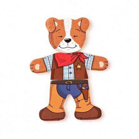Joc Hainutele catelusului, lemn, Woody