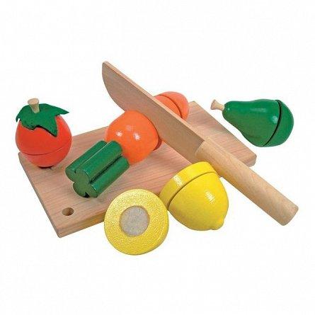 Taietor cu fructe si legume, lemn, Woody