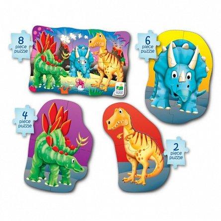 Set Primele mele 4 puzzle-uri - Dinozauri, The Learning Journey