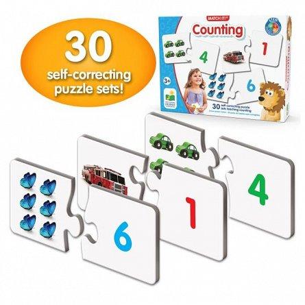 Puzzle Potriveste - Cifrele numarand, The Learning Journey