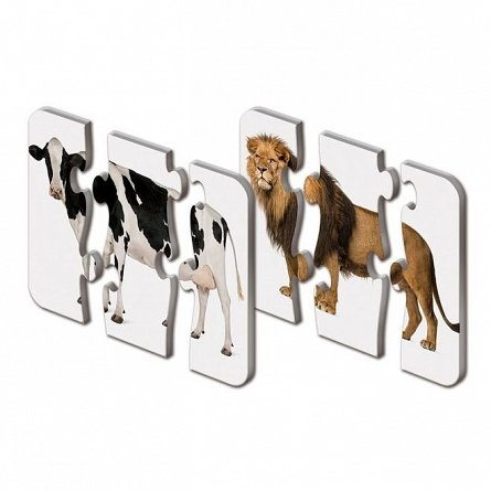 Puzzle Potriveste - Corpul animalelor, The Learning Journey