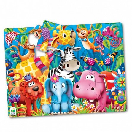 Primul meu puzzle de podea - Animale in jungla, The Learning Journey