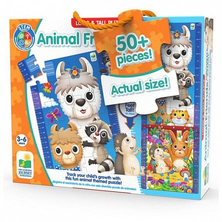Puzzle inalt de podea - Animale prieteni, The Learning Journey