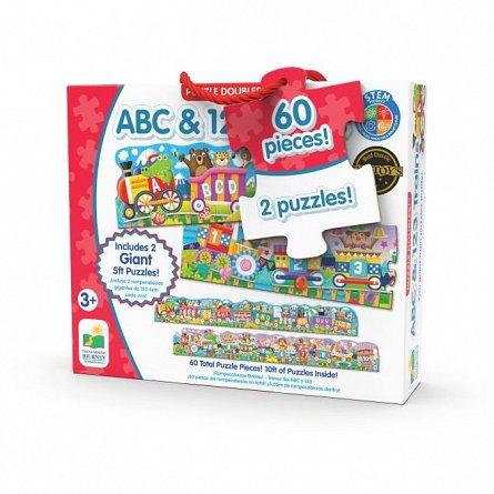 Set 2 Puzzle-uri - Trenul urias cu Numere si Litere, Engleza, The Learning Journey