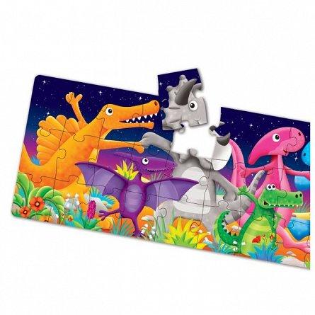 Puzzle lung de podea - Dinozauri colorati, The Learning Journey