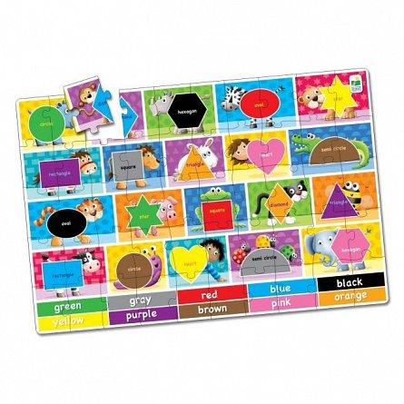 Puzzle mare de podea - Culori si Forme, Engleza, The Learning Journey