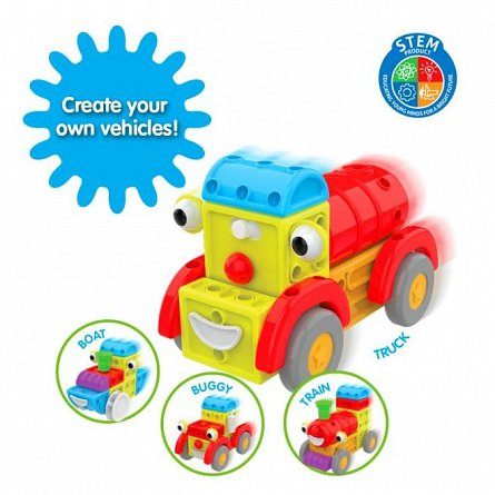 Set constructie Techno Kids 4 in 1 - In oras, The Learning Journey