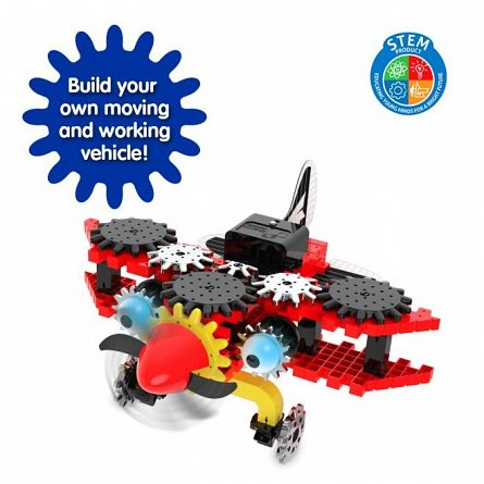 Set constructie Techno Gears - Biplan, The Learning Journey
