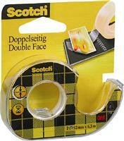 Banda dublu adeziva, Scotch, 12  mm x 6.3 m, dispenser