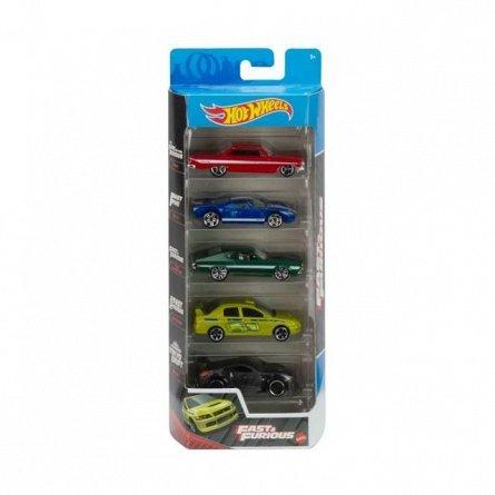 Set masinute Hot Wheels - Fast and Furious, 5 masinute