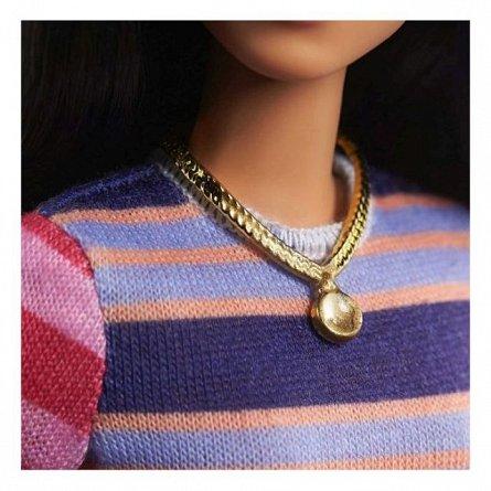 Papusa Barbie Fashionistas - Bruneta cu rochita chic colorata