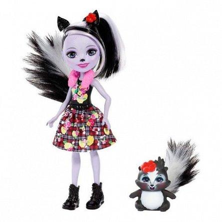 Papusa Enchantimals - Sage Skunk si Caper