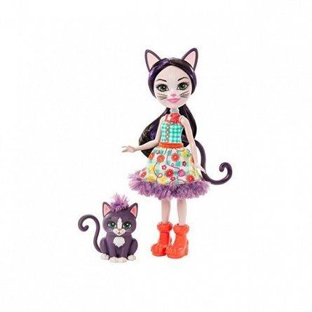Papusa Enchantimals -  Ciesta Cat si Climber