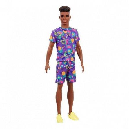 Papusa Barbie Fashionistas - Baiat, cu tinuta lejera multicolora
