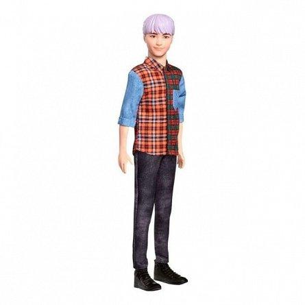 Papusa Barbie Fashionistas - Baiat, cu camasa in carouri