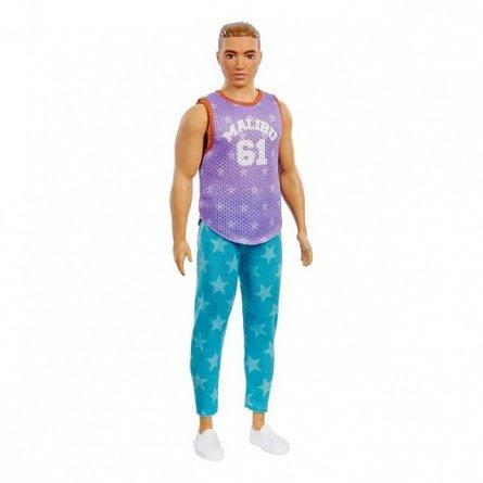 Papusa Barbie Fashionistas - Baiat, cu maieu malibu violet