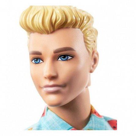 Papusa Barbie Fashionistas - Baiat, cu tinuta lejera de vacanta