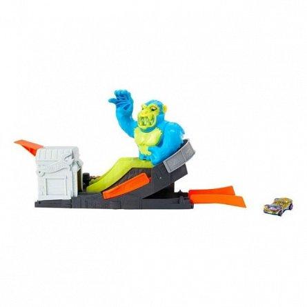 Circuit cu obstacole Hot Wheels City - Ape Attack