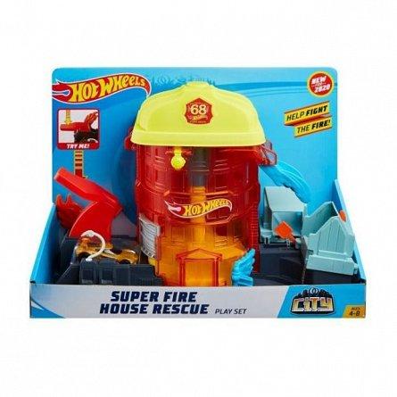 Statie de pompieri Hot Wheels City - Super Fire House Rescue