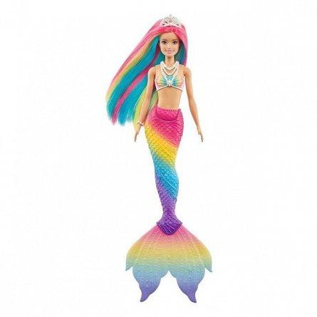 Papusa Barbie Dreamtopia - Sirena isi schimba culoarea