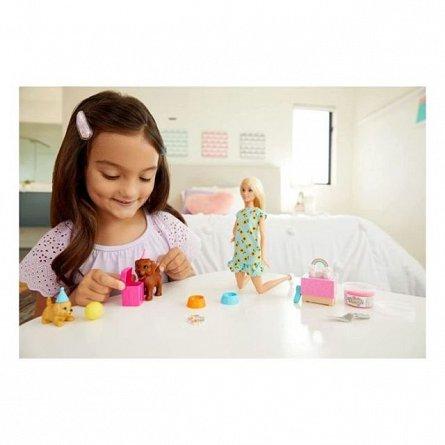 Papusa Barbie Family - Puppy Party, set cu catelusi