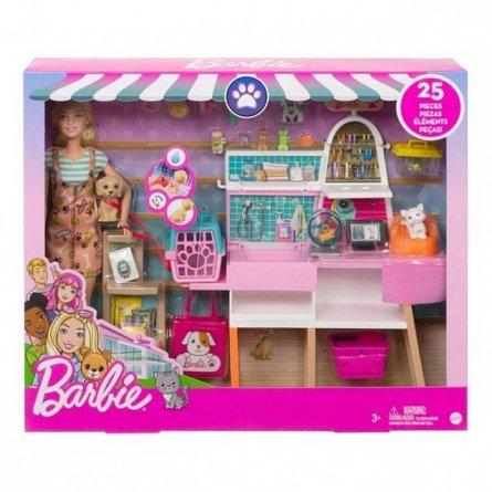Papusa Barbie Estate - Set mobilier magazin si accesorii
