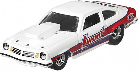 Transportator Hot Wheels - Horizon Hauler cu masinuta Chevrolet Vegas Stock 74, 1:64