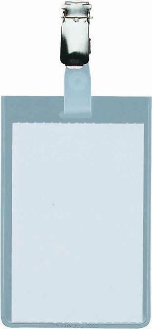 Ecuson vertical Durable, 90 x 60 mm, transparent, cu clip