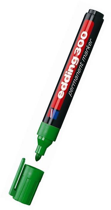 Marker perm.Edding,vf.asc,1,5-3mm,verde