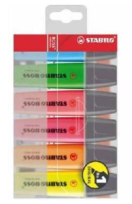 Textmarker Stabilo Boss,6buc/set