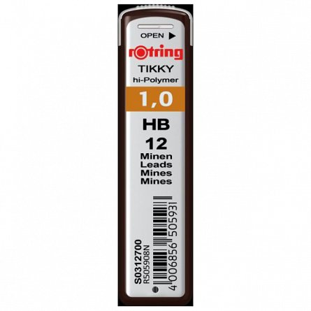 Mine pt.creion mecanic Rotring,1mm,HB,12buc/set
