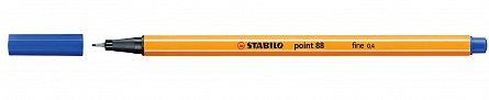 Liner Stabilo Point 88,0.4mm,albastru