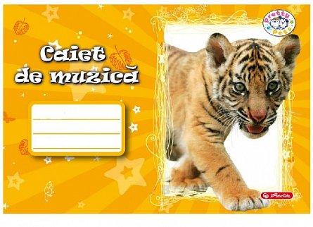 Caiet muzica, 24 file, Pretty pets