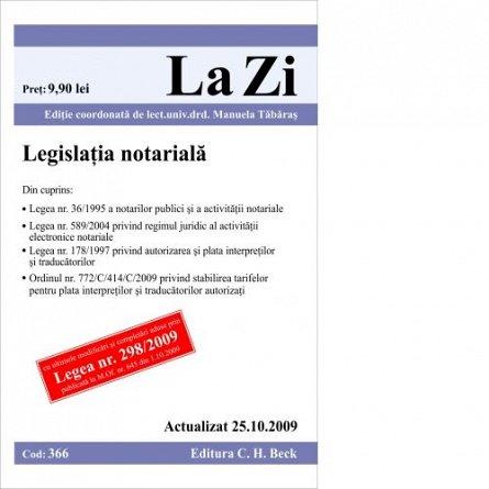 LEGISLATIE NOTARIALA ( COD 366) ACTUALIZ