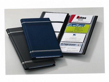 Clasor carti vizita Durable, 96 pozitii, albastru