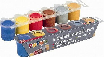 Tempera Primo,25ml/tub,metalica,6culori