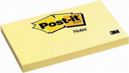 Notite adezive Post-it, 127 x 76 mm, 100 file, galben