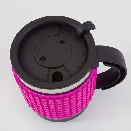 Cana cafea,Pixie,fucsia/negru
