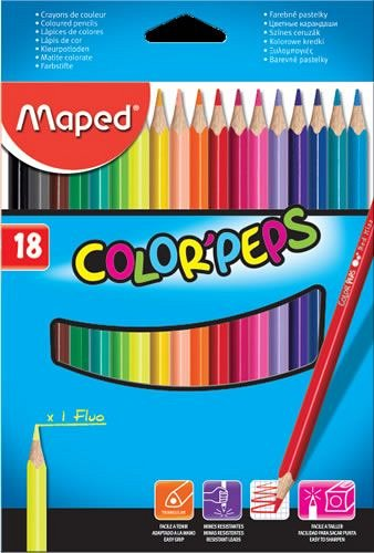 Creioane colorate,18b/set,Maped