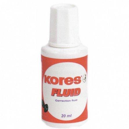Fluid corector Kores, pe baza solvent, 20 ml, aplicator cu pensula