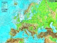 Harta Europa,fizica/administrativa,50x70cm