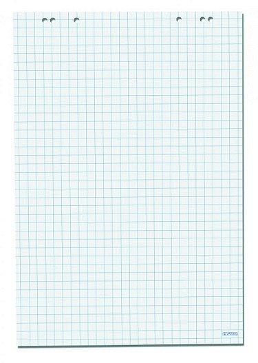 Hartie flipchart, 68 x 99 cm , 80 g, 20 coli, matematica, Herlitz