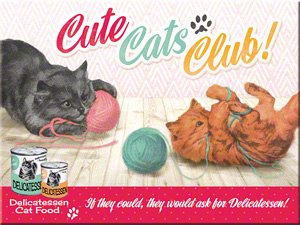 Magnet Cute Cats Club