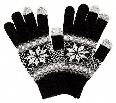 Manusi pentru touchscreen, negru/alb - Satzuma Gloves