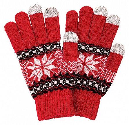 Manusi pentru touchscreen, rosu/alb - Satzuma Gloves