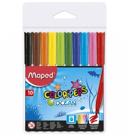 Markere pt copii,10b/set,Maped Ocean