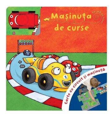 MASINUTA DE CURSE. Carte cu circuit si masinuta.